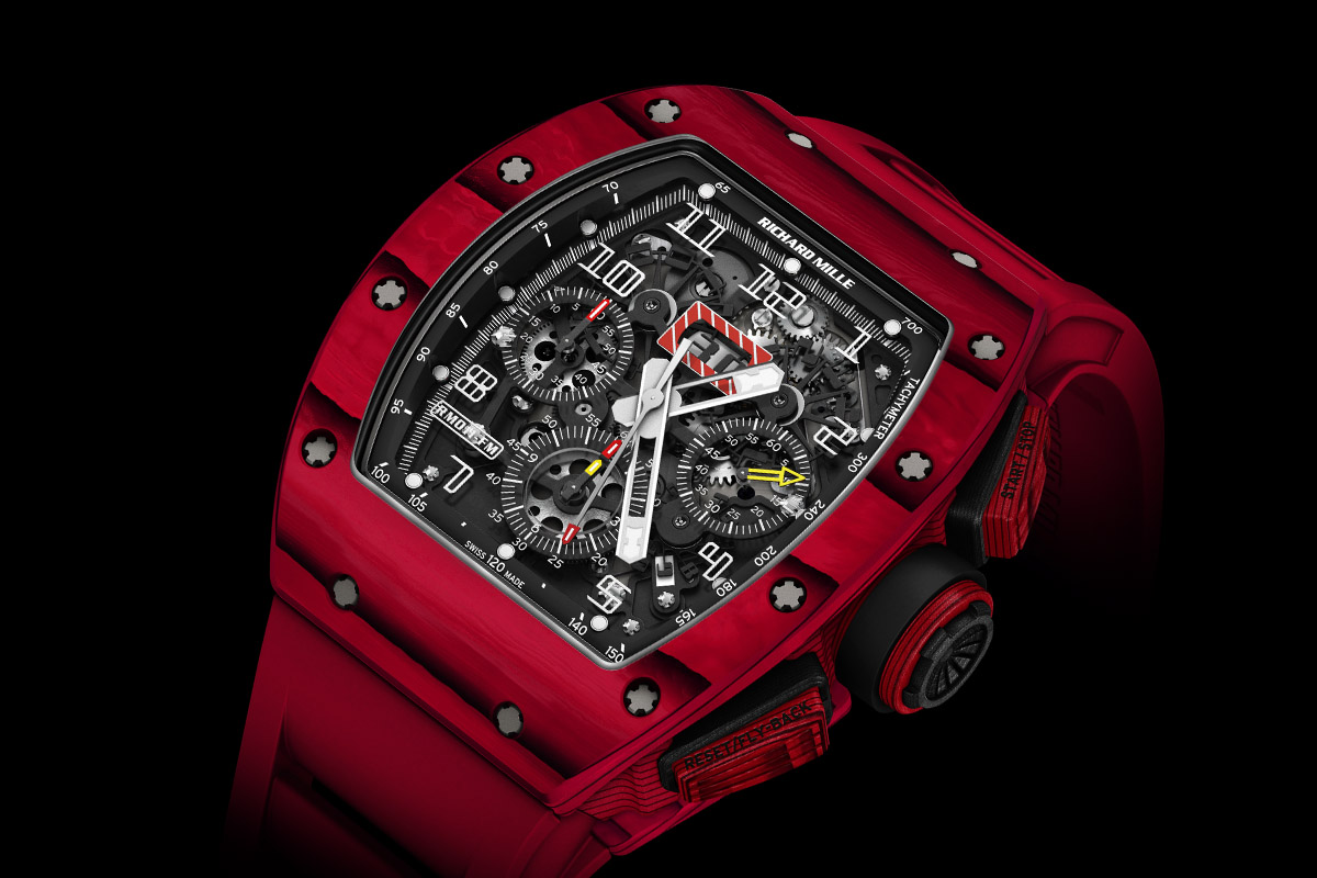 Richard Mille Rm 011 Red Tpt Quartz Automatic Flyback