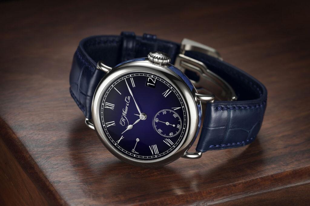 H. Moser & Cie Heritage Perpetual Calendar Midnight Blue Enamel