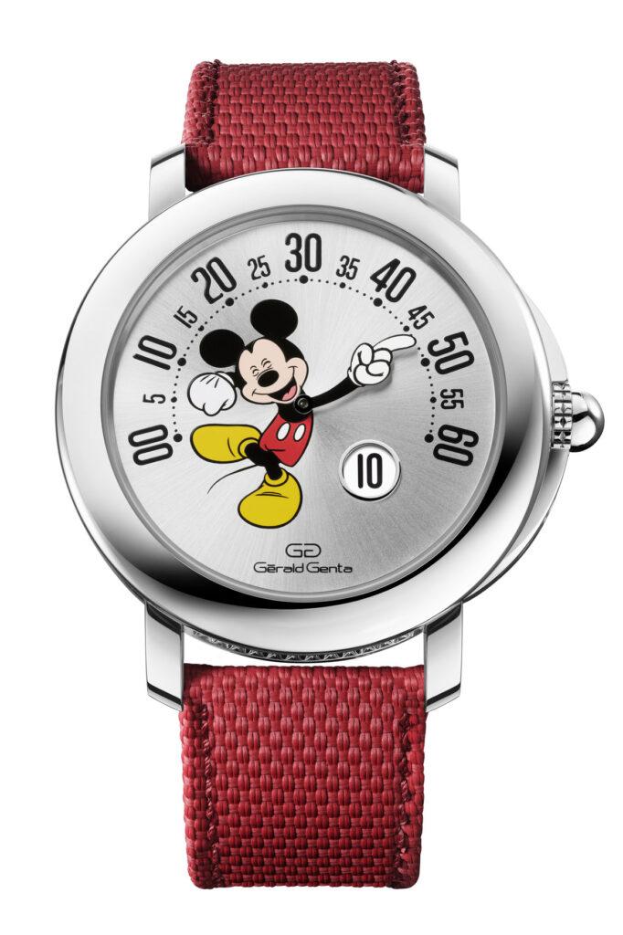 Gerald Genta Arena Retrograde with Smiling Disney Mickey Mouse